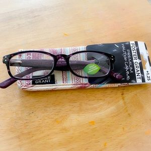 Foster Grant Reading Glasses +1.25 NWT